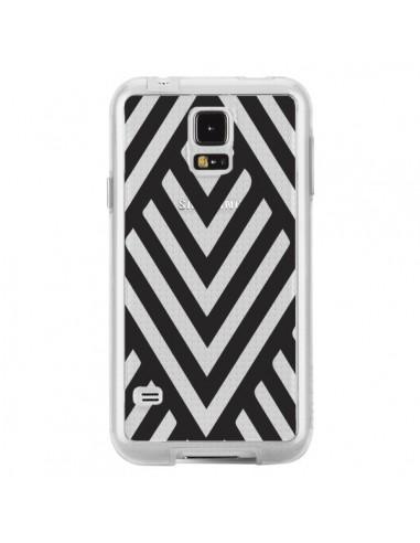 Coque Geometric Azteque Noir Transparente pour Samsung Galaxy S5 - Dricia Do
