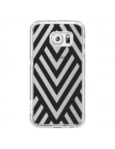 Coque Geometric Azteque Noir Transparente pour Samsung Galaxy S6 - Dricia Do