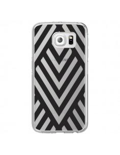 Coque Geometric Azteque Noir Transparente pour Samsung Galaxy S6 Edge - Dricia Do