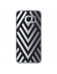 Coque Geometric Azteque Noir Transparente pour Samsung Galaxy S7 - Dricia Do