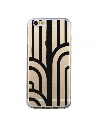 Coque Geometric Noir Transparente pour iPhone 6 et 6S - Dricia Do