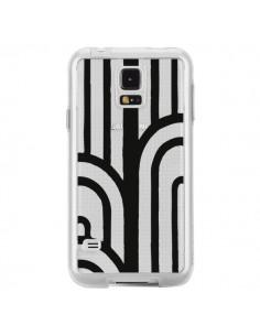 Coque Geometric Noir Transparente pour Samsung Galaxy S5 - Dricia Do