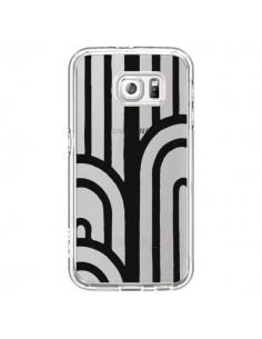 Coque Geometric Noir Transparente pour Samsung Galaxy S6 - Dricia Do