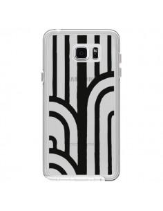 Coque Geometric Noir Transparente pour Samsung Galaxy Note 5 - Dricia Do