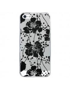 Coque Fleurs Noirs Flower Transparente pour iPhone 5/5S et SE - Dricia Do