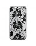 Coque Fleurs Noirs Flower Transparente pour iPhone 6 Plus et 6S Plus - Dricia Do