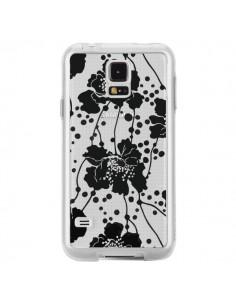 Coque Fleurs Noirs Flower Transparente pour Samsung Galaxy S5 - Dricia Do