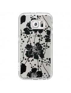 Coque Fleurs Noirs Flower Transparente pour Samsung Galaxy S6 - Dricia Do