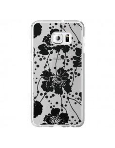 Coque Fleurs Noirs Flower Transparente pour Samsung Galaxy S6 Edge Plus - Dricia Do