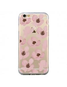 Coque Fleurs Roses Flower Transparente pour iPhone 6 et 6S - Dricia Do