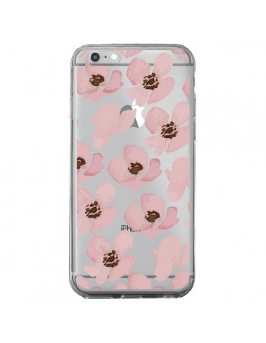 Coque Fleurs Roses Flower Transparente pour iPhone 6 Plus et 6S Plus - Dricia Do