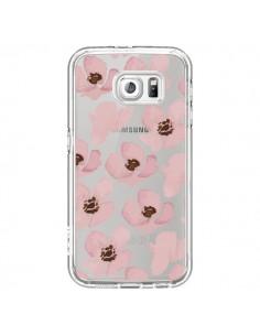 Coque Fleurs Roses Flower Transparente pour Samsung Galaxy S6 - Dricia Do