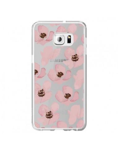 Coque Fleurs Roses Flower Transparente pour Samsung Galaxy S6 Edge Plus - Dricia Do