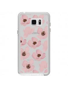 Coque Fleurs Roses Flower Transparente pour Samsung Galaxy Note 5 - Dricia Do