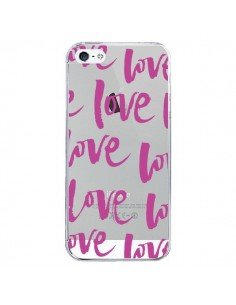 Coque iPhone 5/5S et SE Love Love Love Amour Transparente - Dricia Do