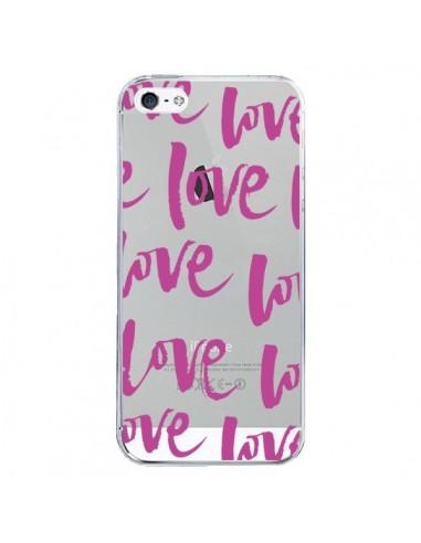 Coque iPhone 5/5S et SE Love Love Love Amour Transparente - Dricia Do