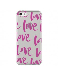 Coque Love Love Love Amour Transparente pour iPhone 5C - Dricia Do
