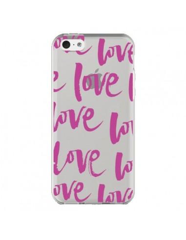 Coque iPhone 5C Love Love Love Amour Transparente - Dricia Do