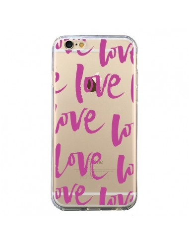 Coque iPhone 6 et 6S Love Love Love Amour Transparente - Dricia Do