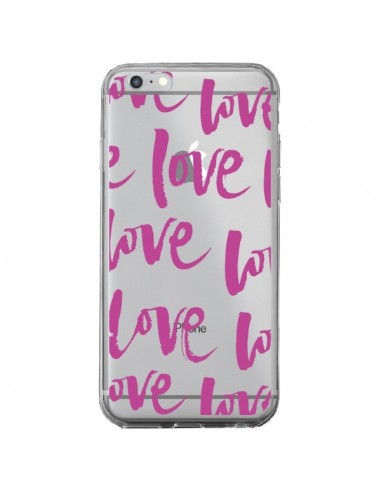 Coque iPhone 6 Plus et 6S Plus Love Love Love Amour Transparente - Dricia Do