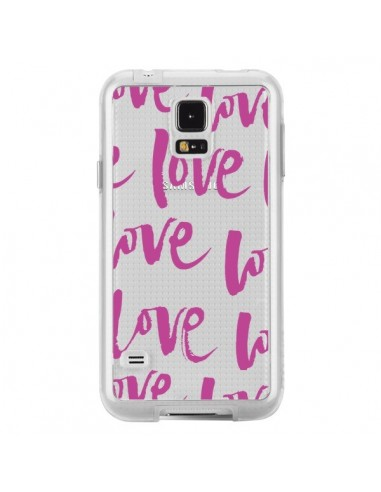 Coque Love Love Love Amour Transparente pour Samsung Galaxy S5 - Dricia Do