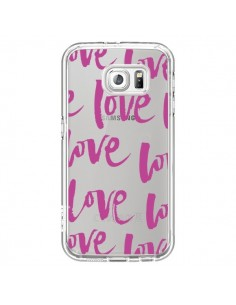 Coque Love Love Love Amour Transparente pour Samsung Galaxy S6 - Dricia Do
