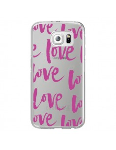 Coque Love Love Love Amour Transparente pour Samsung Galaxy S6 Edge - Dricia Do