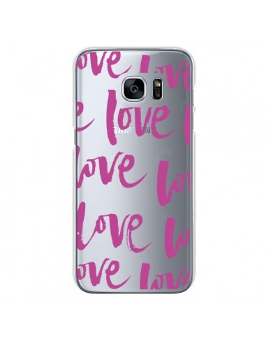 Coque Love Love Love Amour Transparente pour Samsung Galaxy S7 - Dricia Do