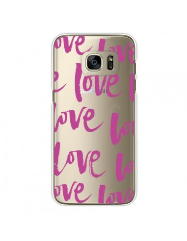 Coque Love Love Love Amour Transparente pour Samsung Galaxy S7 Edge - Dricia Do