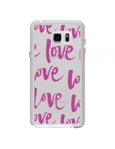 Coque Love Love Love Amour Transparente pour Samsung Galaxy Note 5 - Dricia Do