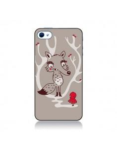 Coque Le Petit Chaperon Rouge Loup pour iPhone 4 et 4S - Maria Jose Da Luz