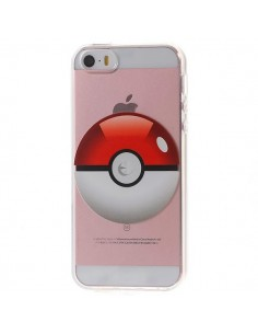 Coque iPhone 5/5S et SE Pokeball Pokemon Transparente en silicone semi-rigide TPU