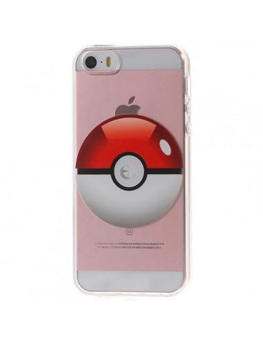 Coque Pokeball Pokemon Transparente en silicone semi-rigide TPU pour iPhone 5/5S et SE