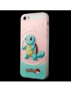 Coque iPhone 5/5S et SE Carapuce Bleu Pokemon Transparente en silicone semi-rigide TPU