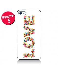 Coque Love Fleurs pour iPhone 5/5S et SE - Nico