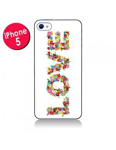Coque Love Fleurs et Russel pour iPhone 5 - Nico