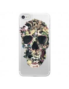 Coque iPhone 7/8 et SE 2020 Skull Vintage Tête de Mort Transparente - Ali Gulec