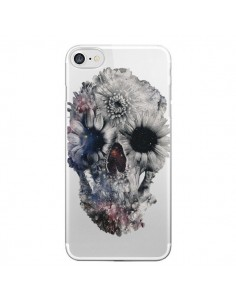 Coque Floral Skull Tête de Mort Transparente pour iPhone 7 et 8 - Ali Gulec