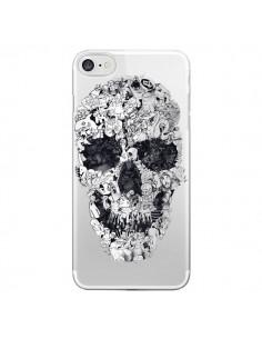 Coque iPhone 7 et 8 Doodle Skull Dessin Tête de Mort Transparente - Ali Gulec