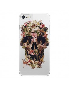 Coque iPhone 7/8 et SE 2020 Jungle Skull Tête de Mort Transparente - Ali Gulec