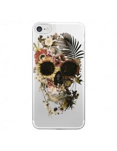 Coque iPhone 7 et 8 Garden Skull Tête de Mort Transparente - Ali Gulec