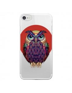 Coque iPhone 7/8 et SE 2020 Chouette Hibou Owl Transparente - Ali Gulec