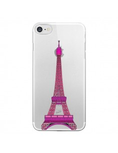 Coque Tour Eiffel Rose Paris Transparente pour iPhone 7 - Asano Yamazaki