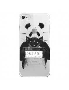 Coque iPhone 7/8 et SE 2020 Bad Panda Transparente - Balazs Solti