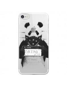 Coque iPhone 7 et 8 Bad Panda Transparente - Balazs Solti