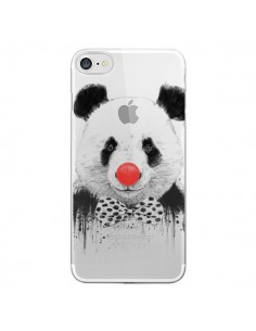 Coque iPhone 7/8 et SE 2020 Clown Panda Transparente - Balazs Solti