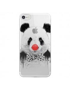 Coque iPhone 7 et 8 Clown Panda Transparente - Balazs Solti
