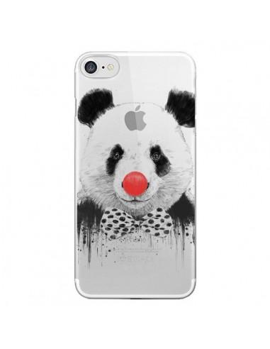 Coque Clown Panda Transparente pour iPhone 7 et 8 - Balazs Solti