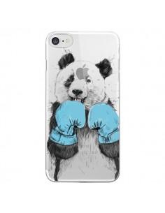 Coque iPhone 7/8 et SE 2020 Winner Panda Gagnant Transparente - Balazs Solti