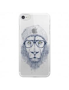 Coque iPhone 7 et 8 Cool Lion Swag Lunettes Transparente - Balazs Solti